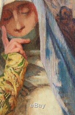 Orientalism, Orientalist, Painting, Painting, Portrait, Woman, Art Deco