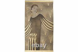 Painted Canvas, Portrait Of Woman In Art Deco Style, Contemporary Work