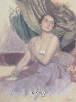 Painting Bivel Fernand (1888-1950) Around 1915 Woman At Her Toilet