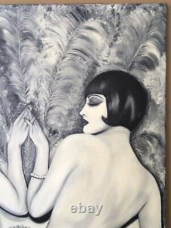 Painting Oil Oil Portrait Libertine Women Art Deco Erotism Female
