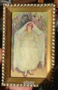 Painting Paul Cirou, Woman Of Tlemcen 1927