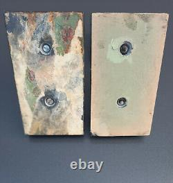 Pair Of Metal Bookends Patinated Nude Women's Marble Terrace Art Deco Style