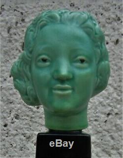 Paul Millet, Paul Milet Sèvresstatuette Bust Woman Art Deco Eravers 1930
