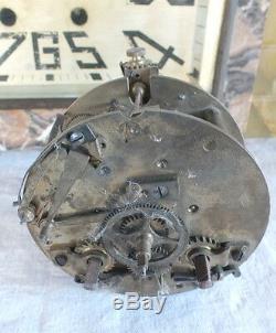 Pendulum Art Deco Woman Bear Onyx Marble Clock