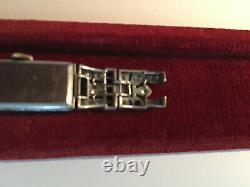 Platinum Art Deco Watch Set With Diamonds Sold In The State, 13.25 G