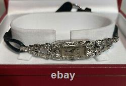 Platinum Diamond Watch 1920's Antique Diamond Platinium Art Deco Ladies Watch