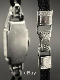 Platinum Lady's Watch Set With Diamonds Art Deco 1925