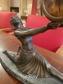 Pretty Art Deco Clock, Woman Dancer