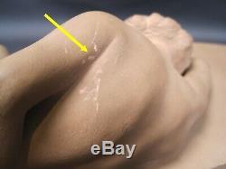 Proof Statue Terracotta Art Deco Naked Woman Sleeping Signed Daniel D. 1930