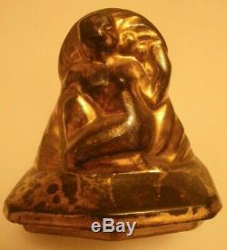 Rare Box Art Deco Woman Range Emile Just Bachelet Boulogne Sur Seine