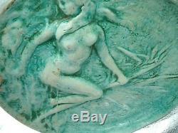 Rare Flat Jean Mayodon Mermaid Woman In The Reeds Art Deco 1930