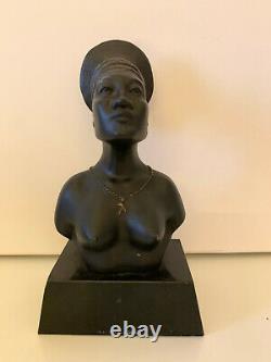 Rare Mangbetou Woman Sculpture Symbol Of The Black Cruise 1925 Citroen