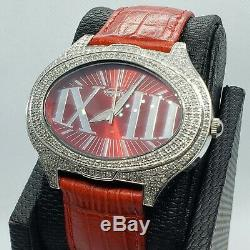 Red 1.5 Carat Fine Jewelry Diamond Watches. Genuine Genuine Diamonds. Swiss