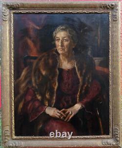Robert Sivell Portrait Of Woman School Scottish School H/t Era Art Deco