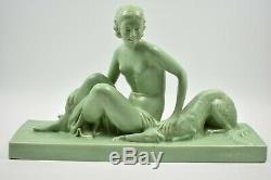 Sculpture 1920 Female Greyhound Lemanceau