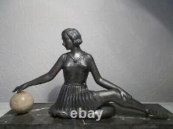 Sculpture Art Deco 1930 Russian Female Dancer Statuette In Regule Dancer Woman