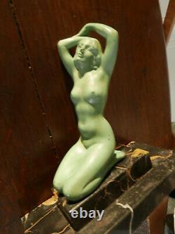 Sculpture Art Deco Signed By Mr Font Naked Woman Regulates Max Le Verrier/bourraine 1930