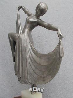 Sculpture Art Deco Statue In 1930 Female Dancer Dancer Woman Gilbert A. Spelter 30s