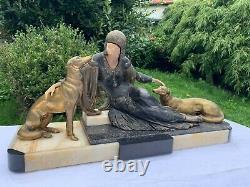 Sculpture Chrys Elephant Woman Lechers Art Deco 1930 Regular