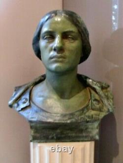 Sculpture Statue Woman Goddess Of War Minerva Sculptor Alfred Finot Nancy