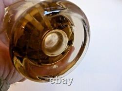 Small Glass Vase Smokes Decor Women's Sand Grave Wheel Bayel Art Deco 1930/40