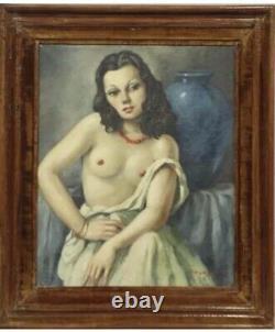 Soungouroff 1940 Paris In Maison Close Tableau Nu Feminin Portrait