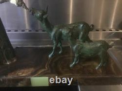 Statue Sculpture Art Deco Chiparus Woman With Goats