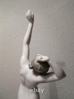 Statuette Art Deco Dressel - Kister Porcelain Sculpture Half Doll