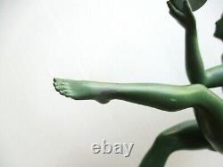 Statuette Art Deco Païenne Dance A. Derenne Bouraine Max Le Verrier Jolie Femme