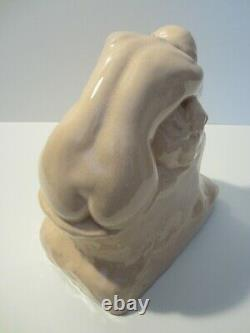 Statuette Ceramic Craquelee Nu Feminin Edition Kaza Art Deco 1930/naked Woman