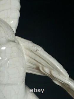 Subject Ceramic Cracked Woman Genvane 1930 Art Deco
