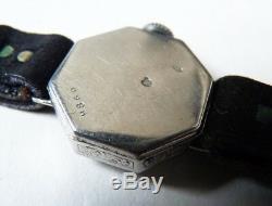 Superb Ladies' Watch Platinum + Mechanical Diamond Art Deco Platinum Watch Diamond