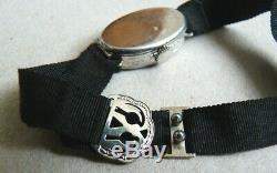 Superb Platinum + Diamonds Mechanical Watch Art Deco Platinum Watch Diamonds