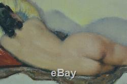Table Erotic Art Deco Young Naked Woman In The Alcove George Duke Pinup Domergue