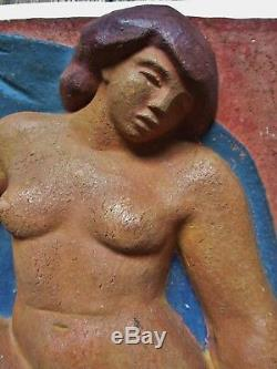 Terracotta Statue Sculpture Art Deco Modernist Female Artist Identified