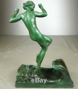 The 1920/1930 P Faguays R Guerbe M Le Verrier Statue Sculpture Art Deco Naked Woman