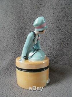 Transmission Porcelain Art Deco Fasold & Stauch Statuette Woman Half Doll Sculpture