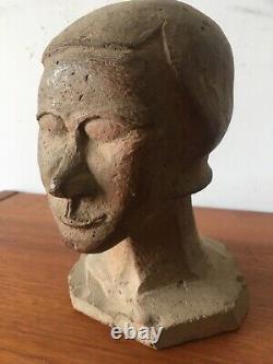 Tres Belle Tete Female Terracotta Bust 1930 Art Deco