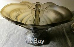 Vase Art Deco Sohne Walther (1935) Decor Woman / Butterfly