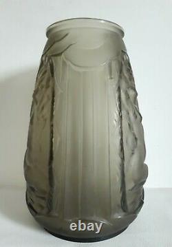 Verlys (1925-1946) Glass Vase Decoration Naked Women 1930 Art Deco