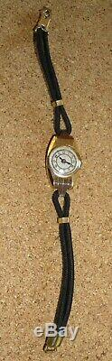Watch Art Deco Woman Ugo Switzerland Solid Gold And Platinum And White Gold Eagle Dog