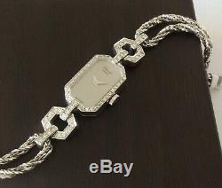 Watch Chopard Woman Genuine 18k Gold, 54 Diamonds, Mechanical Art Deco Style