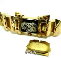 Watch D'era Art Deco Women 30 Years Solid 18k Gold With Natural Ruby