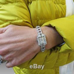 Watch Lady Art Deco Platinum 1930 Diamonds. Mechanical