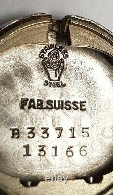 Watch Movado Steel Calendette Circa 1950 Art Deco Vintage Calendar