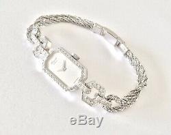 Watch Of Woman Chopard Authentic 18k Gold, 54 Diamonds, Mechanical Art Deco Style