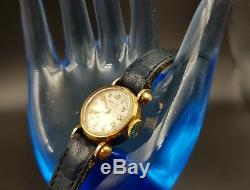 Watch Women Art Deco Hercey Eb. Switzerland 18k Rare