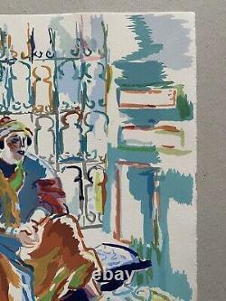 Watercolor Gouache Woman Orientalist Africanist Morocco Algeria Tunisia 1940