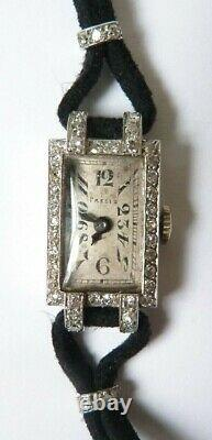 White Or Women's Watch + Mechanical Diamonds Art Deco Gold Watch Diamond