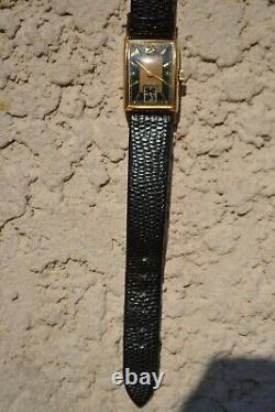 Wittnauer Watch, 15 Swiss Jewels, 10 K Gold Filled, Banana, Art Deco Circa 1940